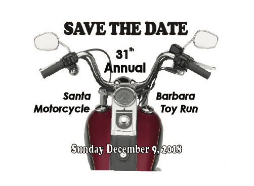 31st Annual Santa Barbara Motorcycle Toy Run @ Santa Claus Lane